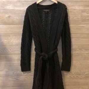Express Long Sleeve Black Knit Cardigan